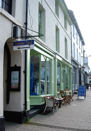 Waste Not Want Not shop with Just4you art gallery above, in Llanidloes
